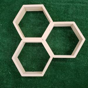Homemade Honeycomb Shelves